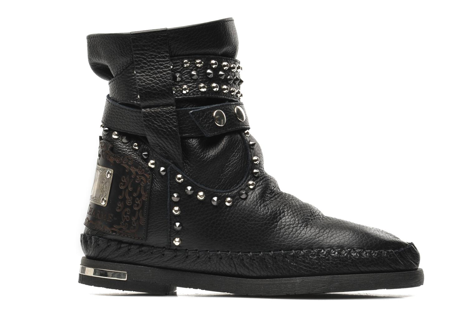Ankle boots Karma of Charme London Dark Black back view