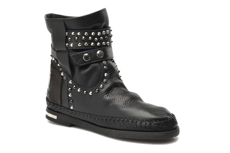 Ankelstøvler Karma of Charme London Dark Sort detaljeret billede af skoene