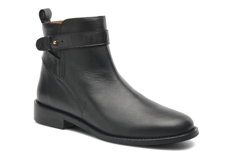 Ankelstøvler Georgia Rose Auteuil Sort detaljeret billede af skoene