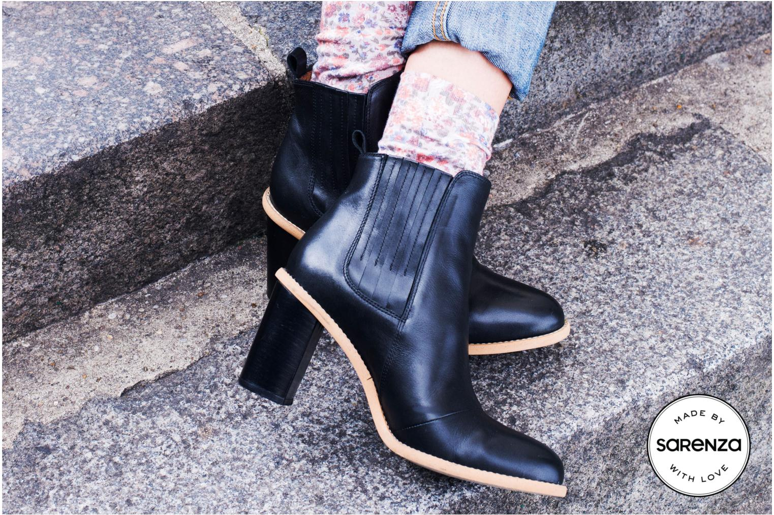 Ankle boots Made by SARENZA Toundra Girl Bottines à Talons #1 Black 3/4 view