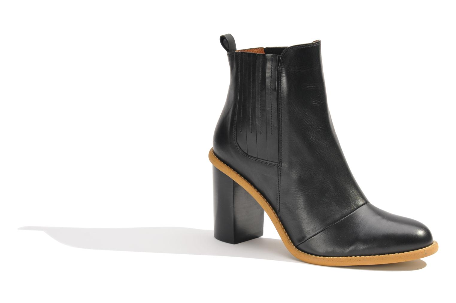Ankle boots Made by SARENZA Toundra Girl Bottines à Talons #1 Black view from the right