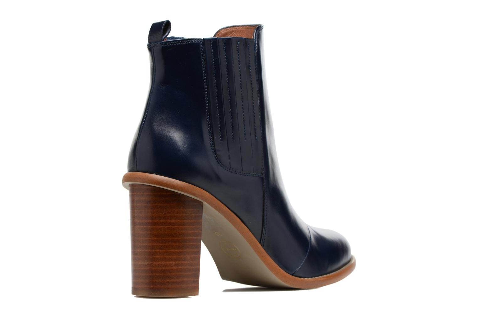 Boots Camp #1 Cuir Lisse Marine