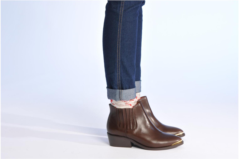 Bottines et boots Made by SARENZA Cape Town #3 Marron vue bas / vue portée sac