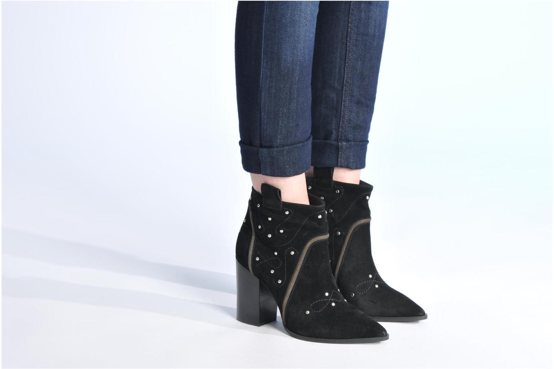 Bottines et boots Made by SARENZA Buttes-Chaumont #1 Noir vue bas / vue portée sac