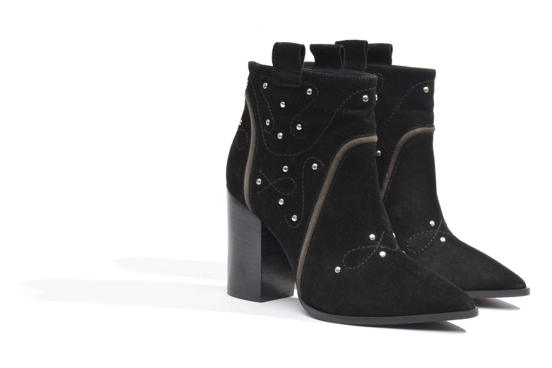 Bottines et boots Made by SARENZA Buttes-Chaumont #1 Noir vue derrière