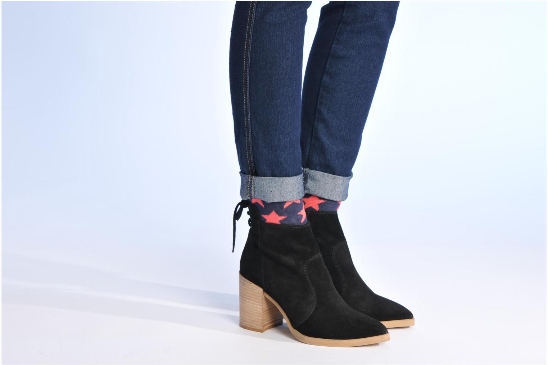 Bottines et boots Made by SARENZA Buttes-Chaumont #2 Noir vue bas / vue portée sac