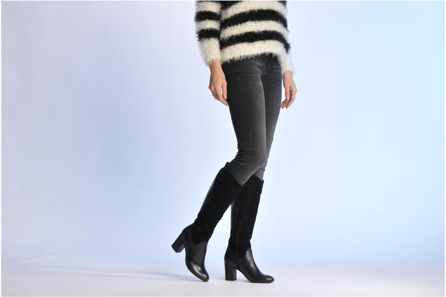 Boots & wellies Made by SARENZA Rue des Dames #8 Black view from underneath / model view