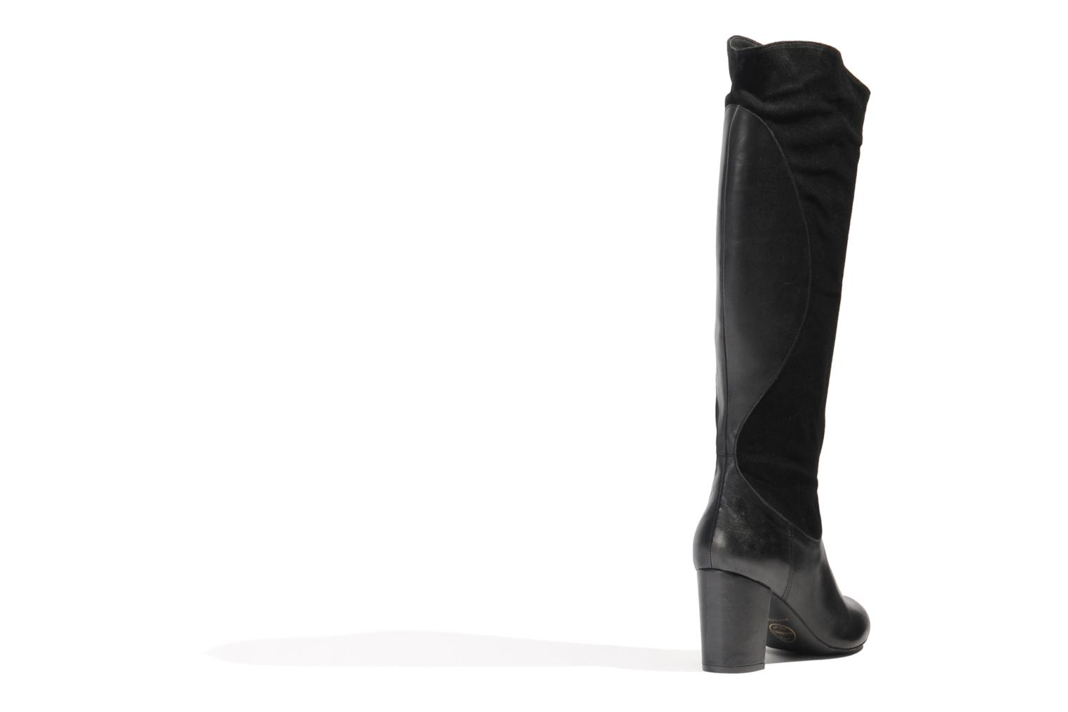 Boots & wellies Made by SARENZA Rue des Dames #8 Black front view