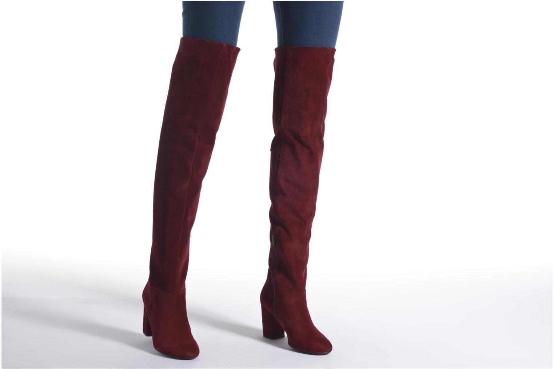 Stiefel Made by SARENZA Boots Camp #13 weinrot ansicht von unten / tasche getragen