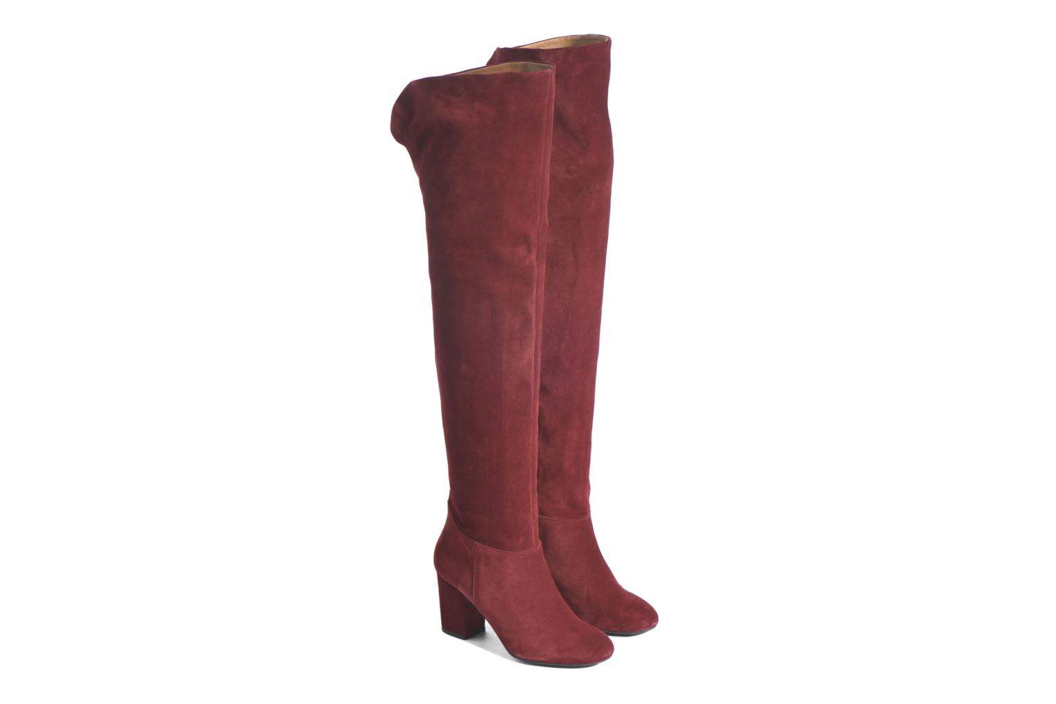 Boots & wellies Made by SARENZA Boots Camp #13 Burgundy back view