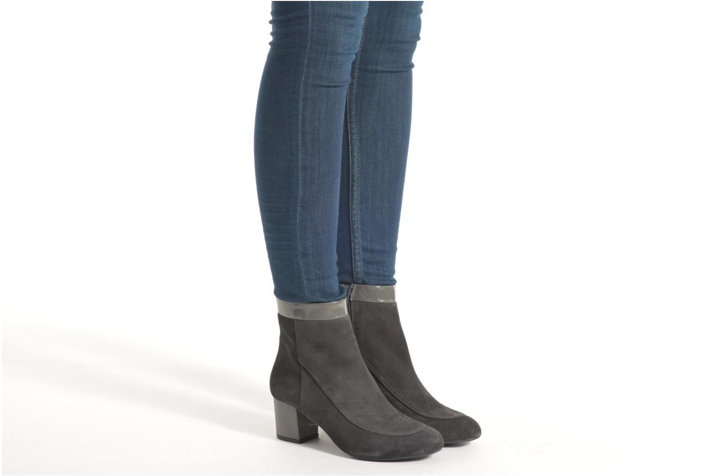 Bottines et boots Made by SARENZA Queens Cross #17 Gris vue bas / vue portée sac