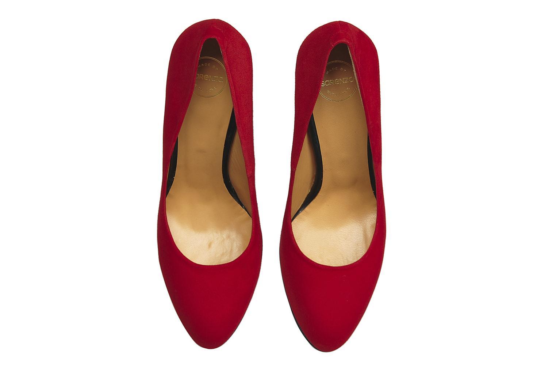 Escarpins Made by SARENZA Glaçons citrons #18 Rouge vue portées chaussures