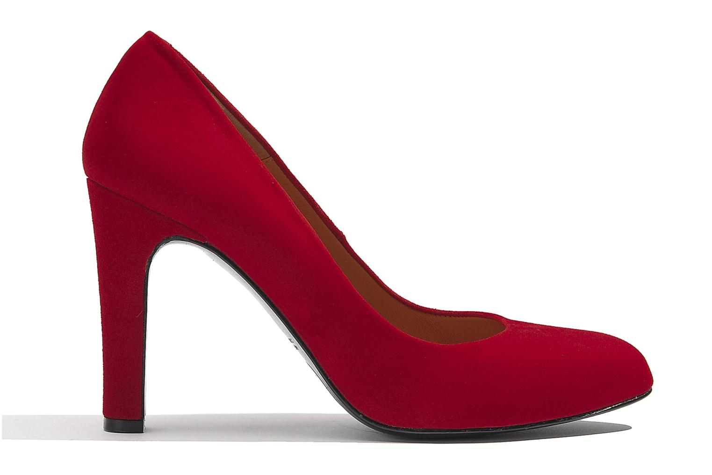Escarpins Made by SARENZA Glaçons citrons #18 Rouge vue détail/paire