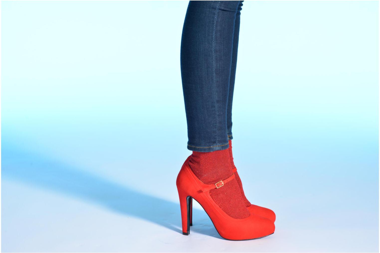 Escarpins Made by SARENZA Flore Thirties #13 Rouge vue bas / vue portée sac