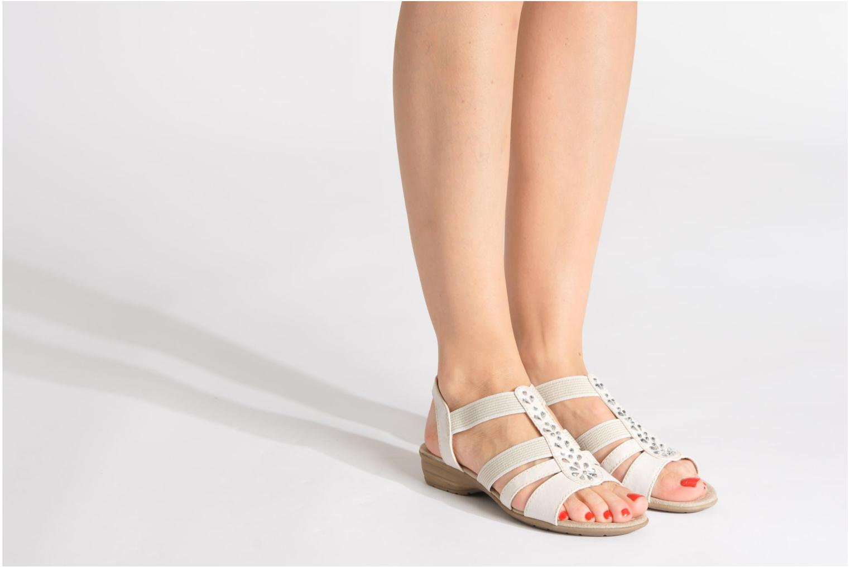 Sandalen Jana shoes Helen blau ansicht von unten / tasche getragen