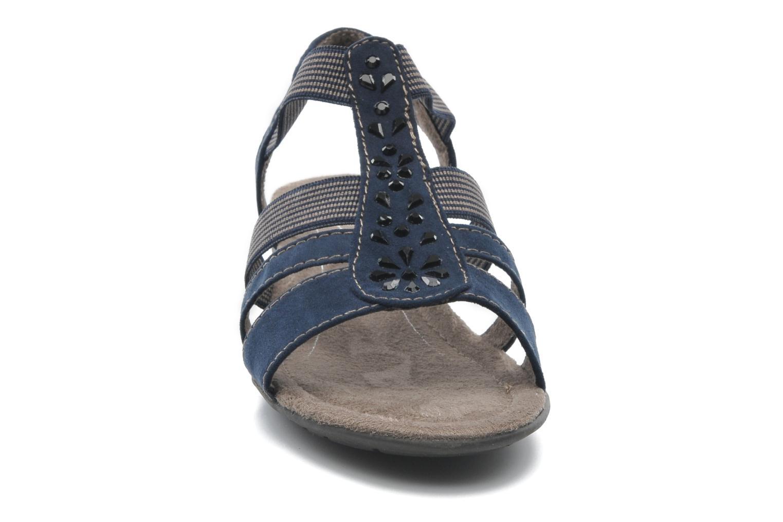 Sandalias Jana shoes Helen Azul vista del modelo