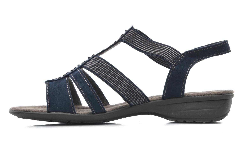 Sandalen Jana shoes Helen blau ansicht von vorne