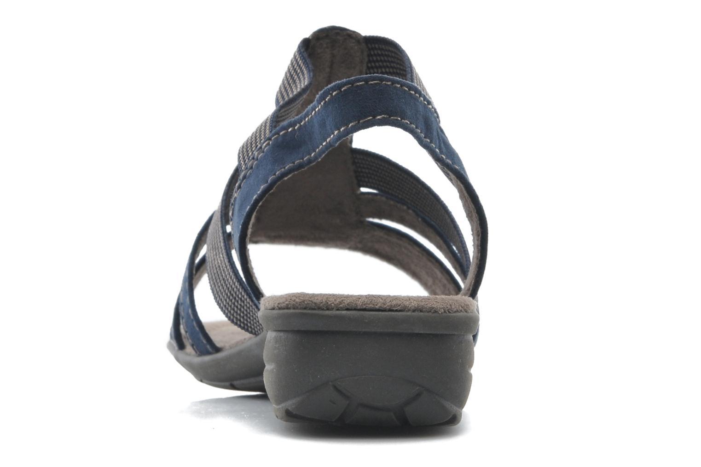 Sandalias Jana shoes Helen Azul vista lateral derecha