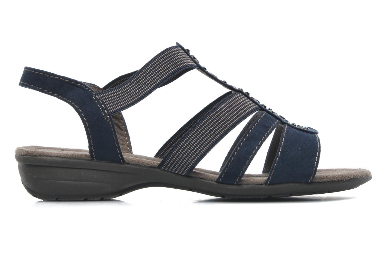 Sandalen Jana shoes Helen blau ansicht von hinten