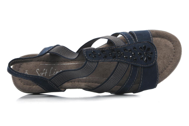 Sandalen Jana shoes Helen blau ansicht von links