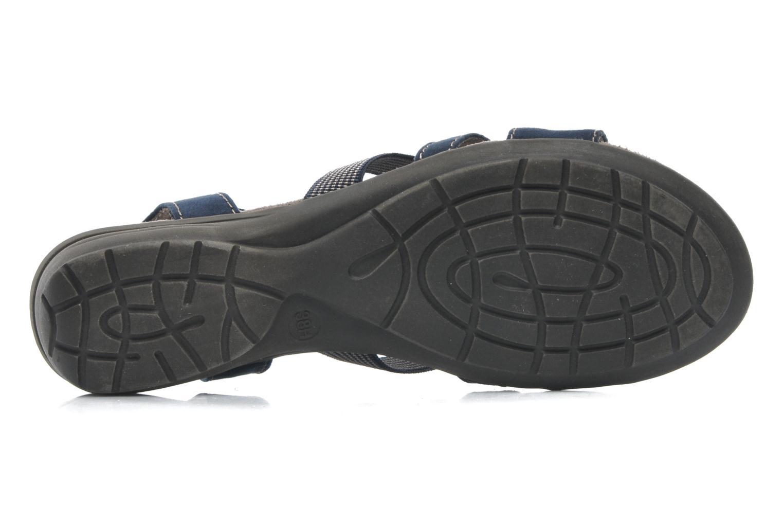 Sandalen Jana shoes Helen blau ansicht von oben