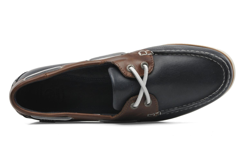 Zapatos con cordones Aigle Americasual Azul vista lateral izquierda