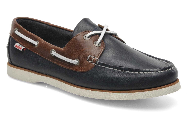 Zapatos con cordones Aigle Americasual Azul vista de detalle / par