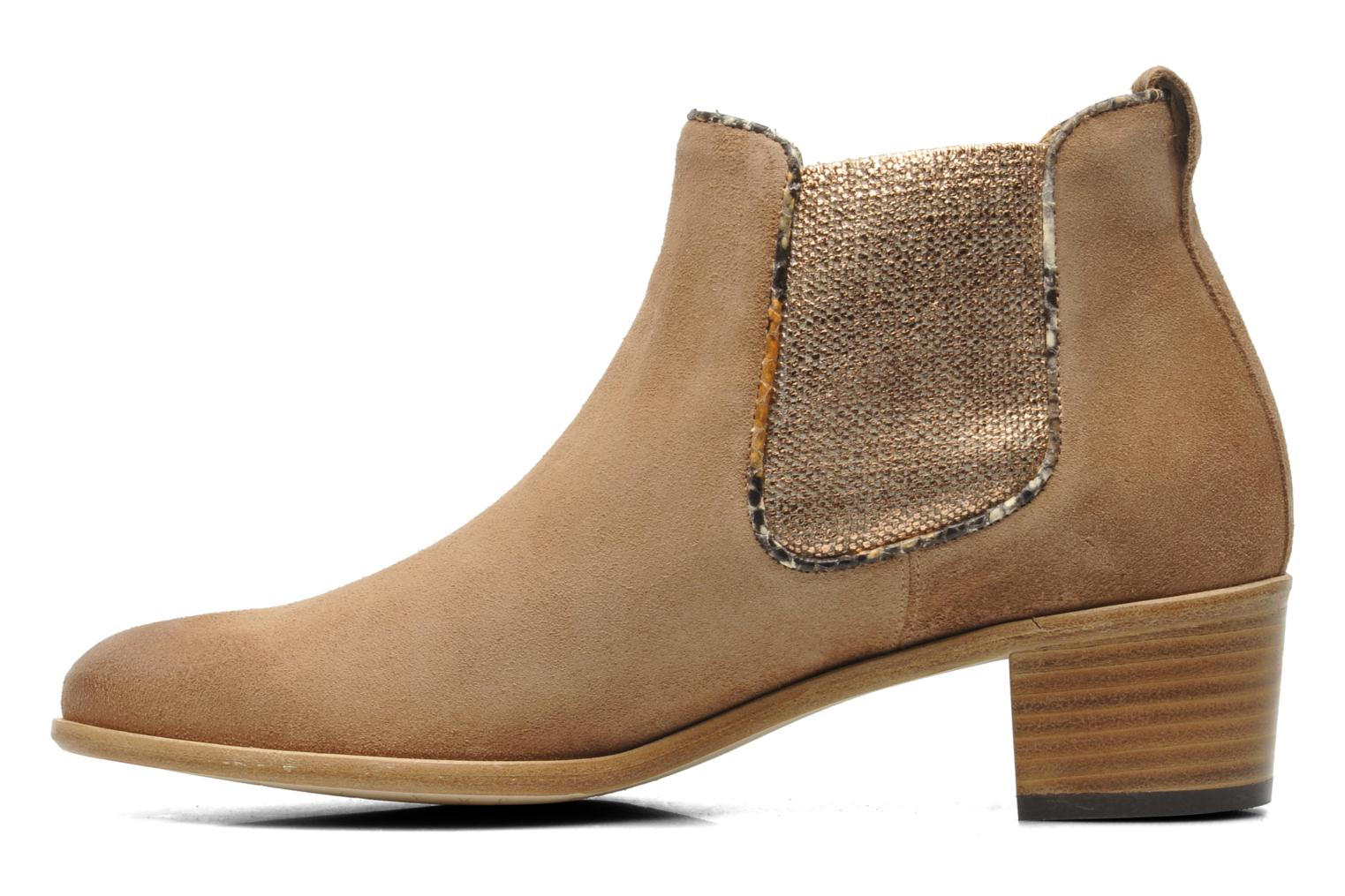 Ankle boots Georgia Rose Parmak Beige front view