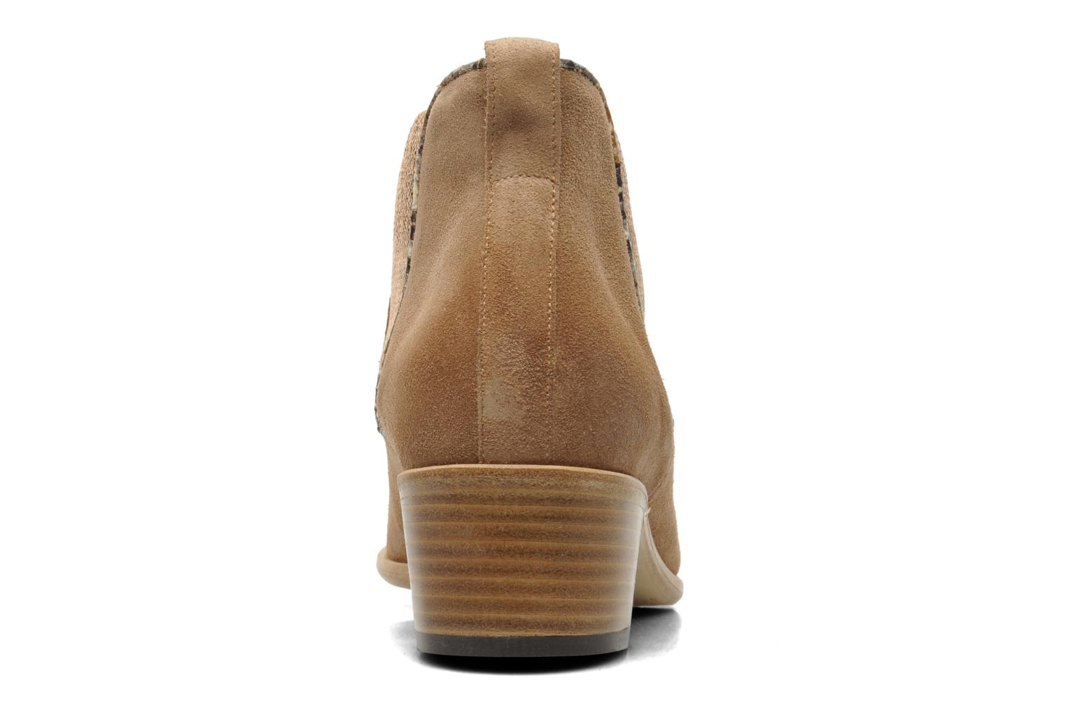 Ankle boots Georgia Rose Parmak Beige view from the right