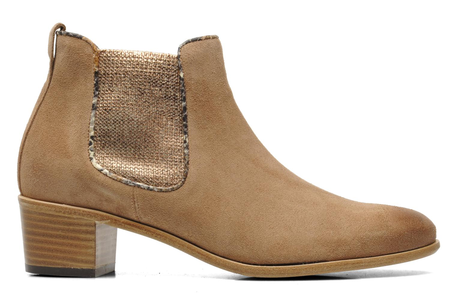 Ankle boots Georgia Rose Parmak Beige back view