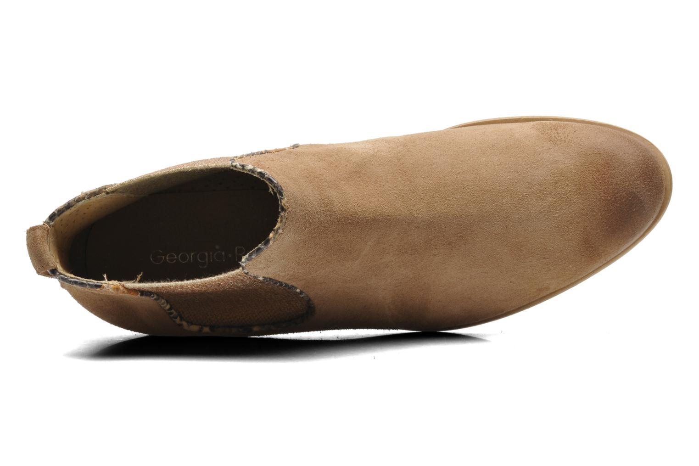 Bottines et boots Georgia Rose Parmak Beige vue gauche