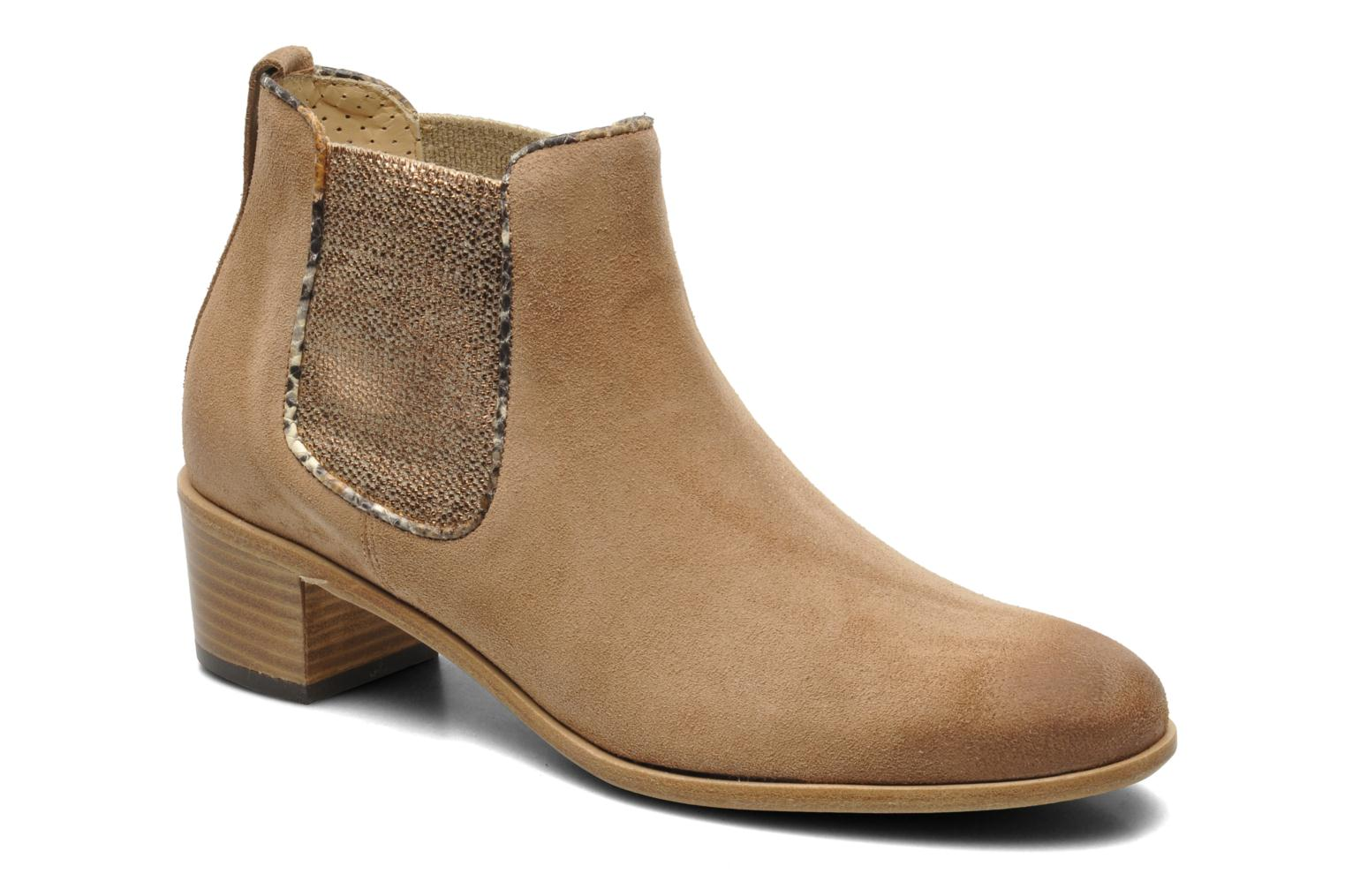 Ankle boots Georgia Rose Parmak Beige detailed view/ Pair view