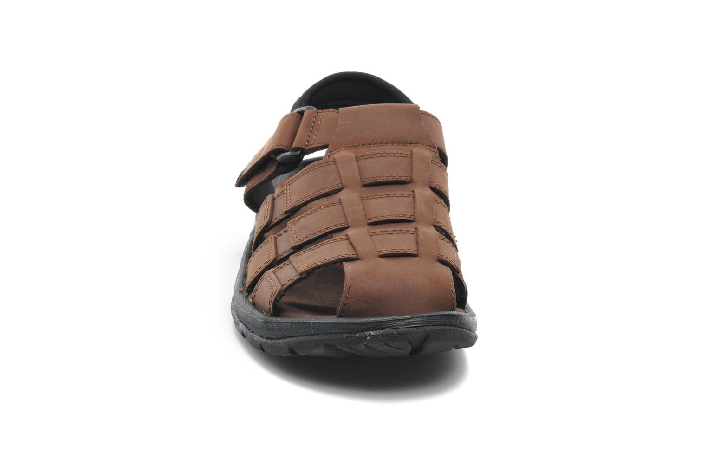Sandales et nu-pieds Columbia Levanto Marron vue portées chaussures
