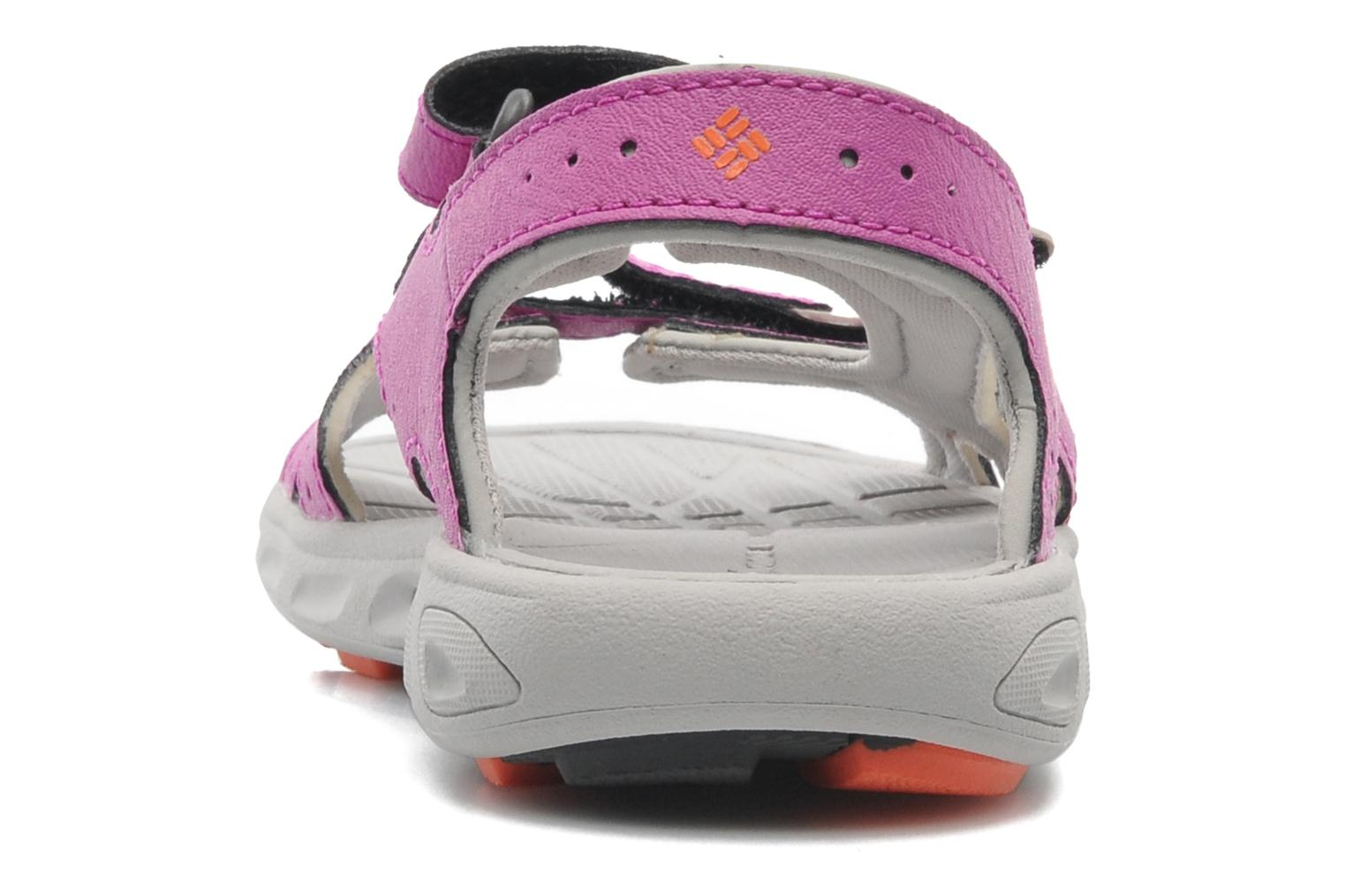 Sandals Columbia Childrens Techs Pink view from the right