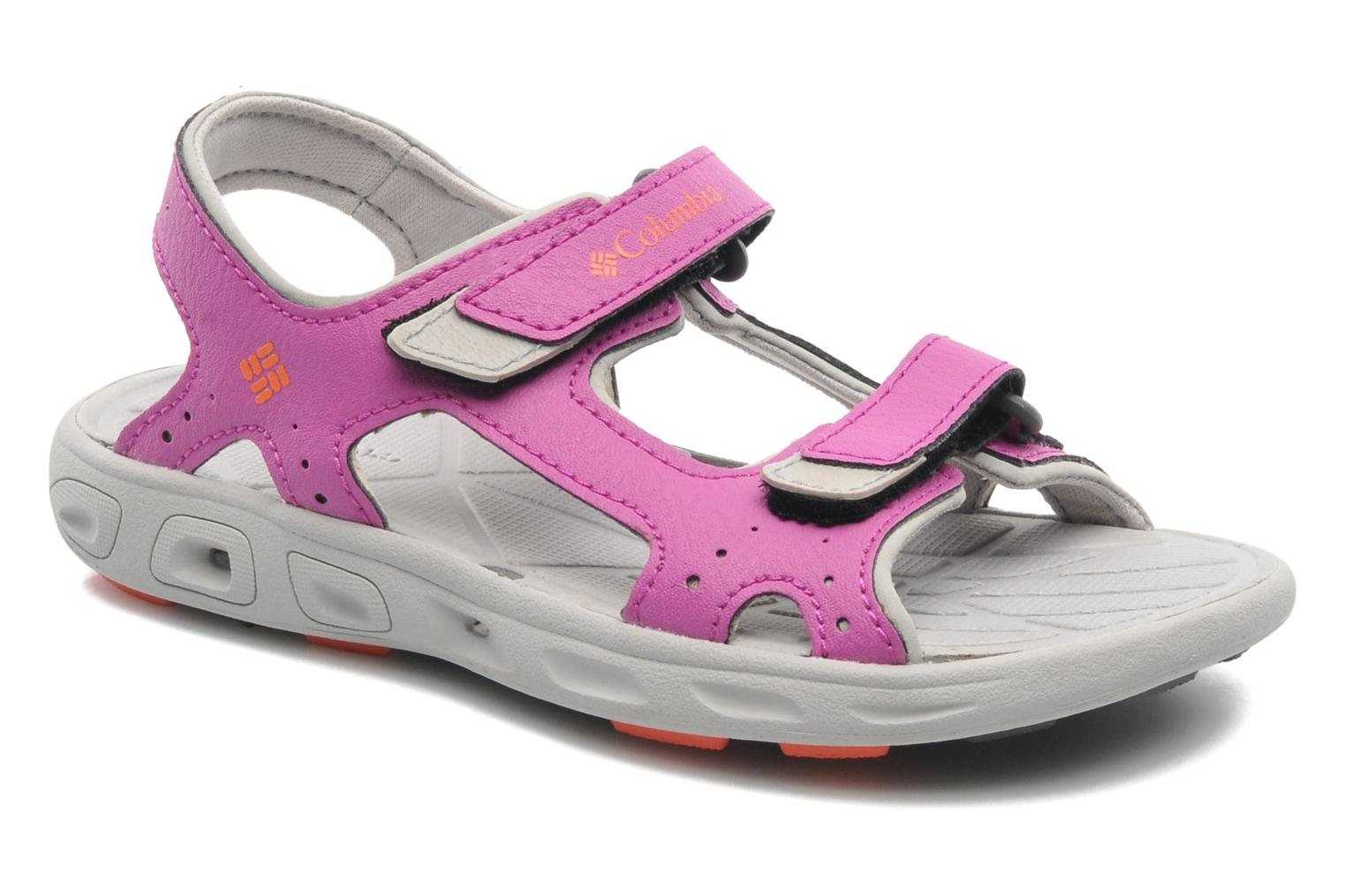 Sandals Columbia Childrens Techs Pink detailed view/ Pair view
