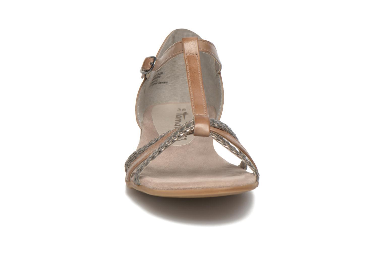 Sandales et nu-pieds Tamaris Brianna Gris vue portées chaussures