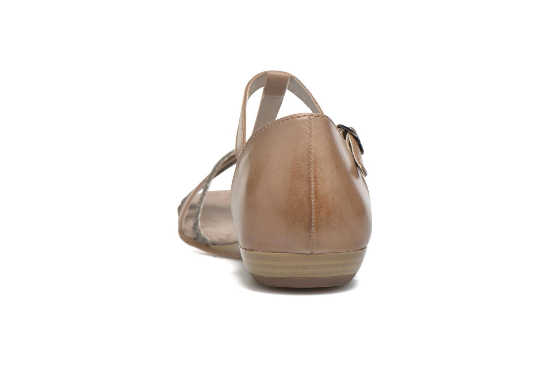 Sandales et nu-pieds Tamaris Brianna Gris vue droite