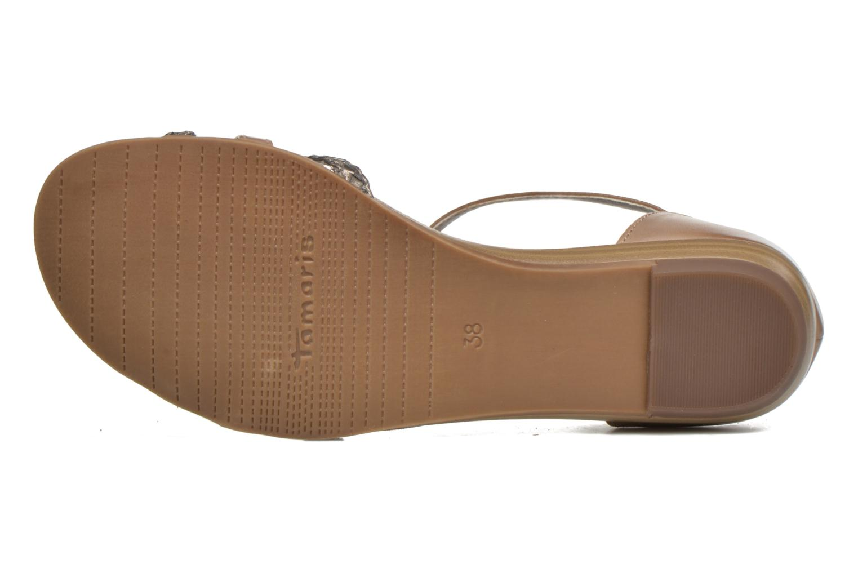 Sandales et nu-pieds Tamaris Brianna Gris vue haut