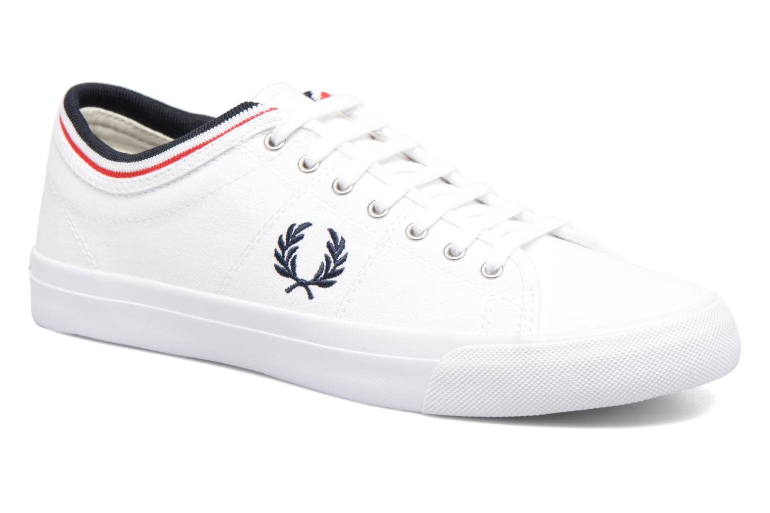 Kendrick tipped cuff canvas White/Navy/Bright Red