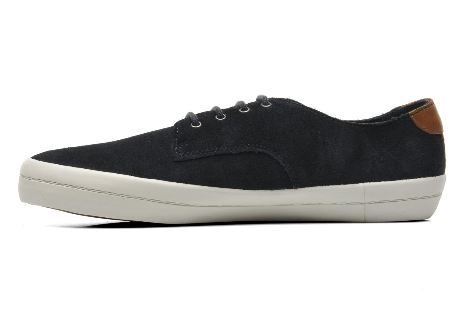 Baskets Fred Perry Savitt Suede Bleu vue face