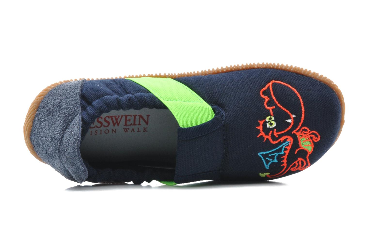 Slippers Giesswein Stubenberg Slim Fit Blue view from the left