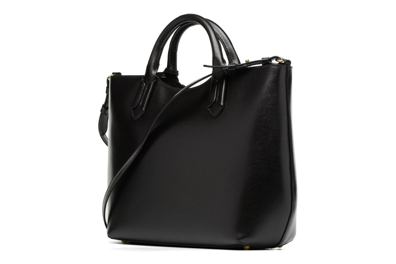 Handväskor Lauren by Ralph Lauren Tate Convertible tote Svart Bild från höger sidan