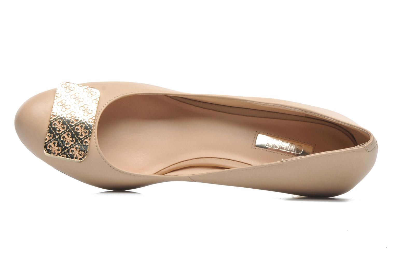 Zapatos de tacón Guess Racheli Beige vista lateral izquierda
