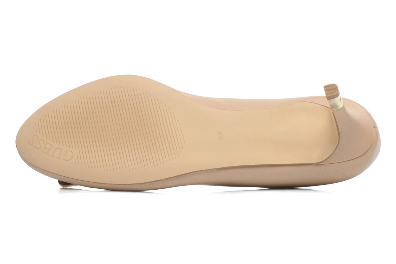 Zapatos de tacón Guess Racheli Beige vista de arriba