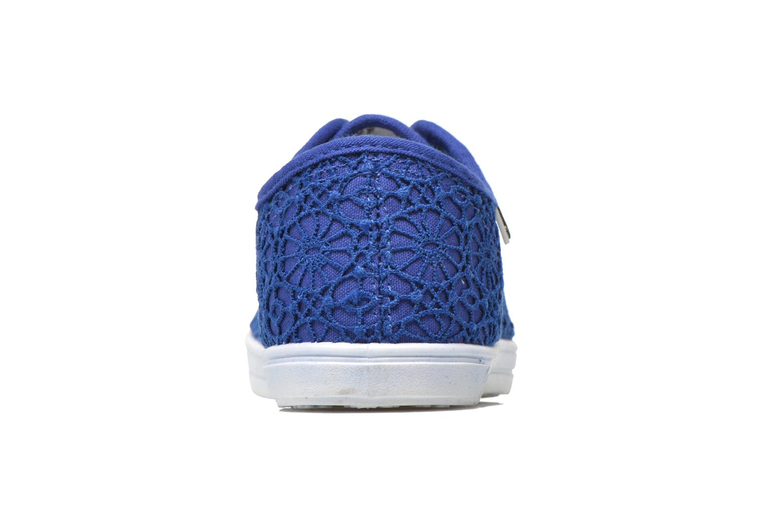 Baskets Molly Bracken Derby signature Bleu vue droite