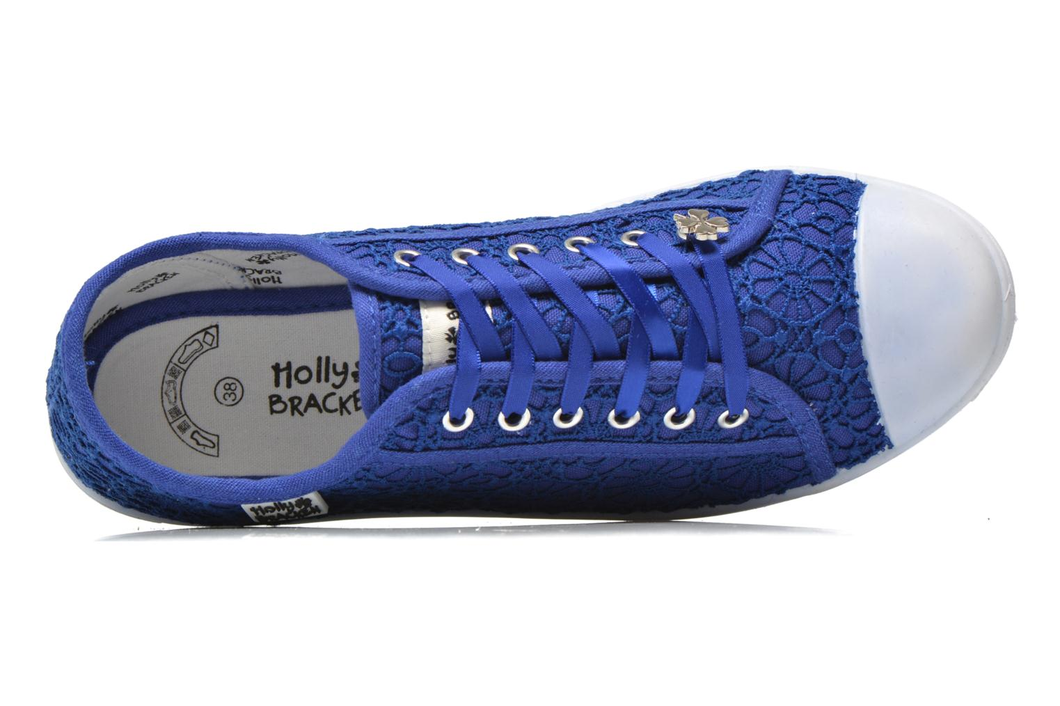 Baskets Molly Bracken Derby signature Bleu vue gauche