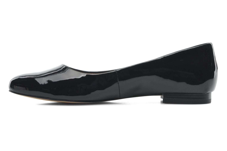 Ballerinas Caprice Vinyle schwarz ansicht von vorne