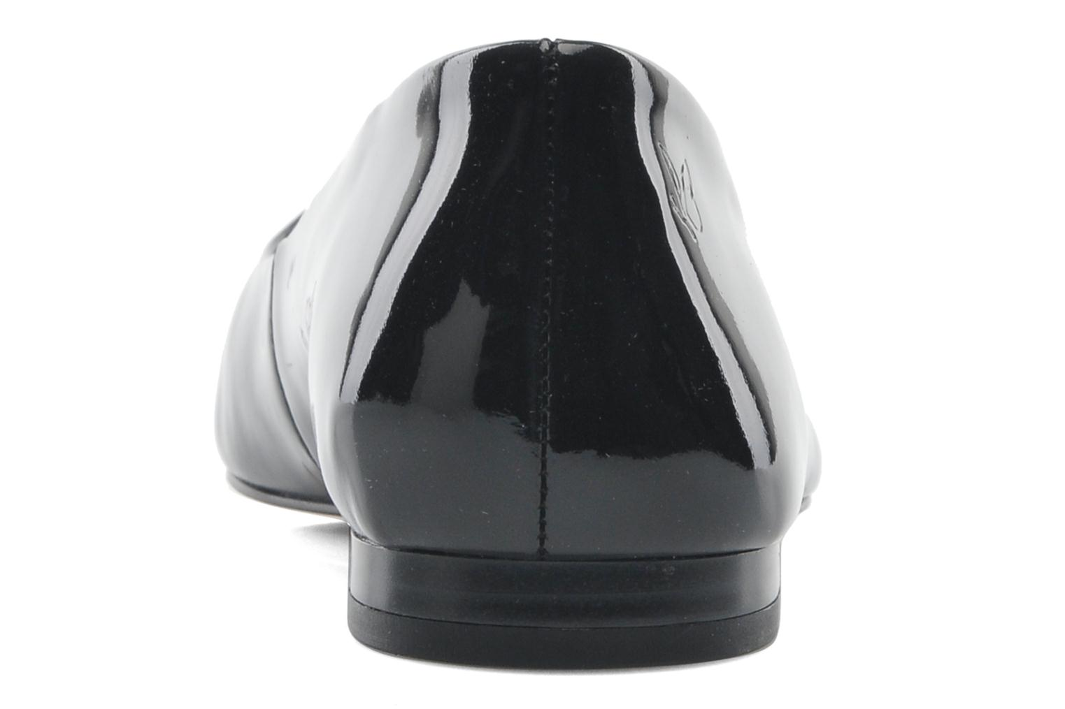 Ballet pumps Caprice Vinyle Black view from the right