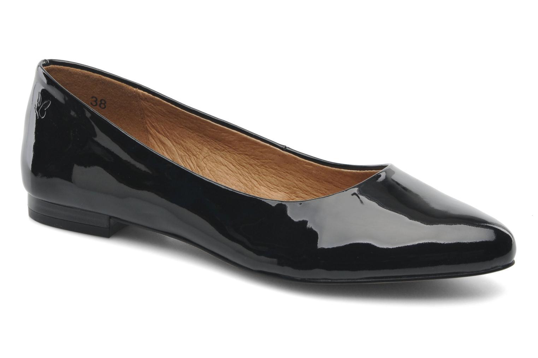 Ballet pumps Caprice Vinyle Black detailed view/ Pair view