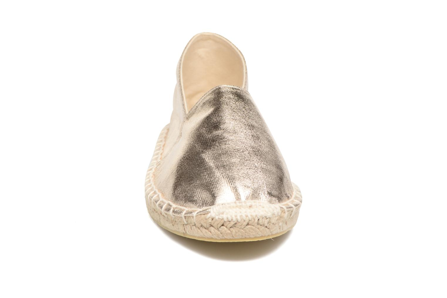 Espadrilles Pieces Haisha espadrillos Bronze and Gold model view